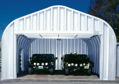 2 Car Steel Garage Building