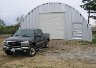 Recreational Storage Metal Building with large car door
