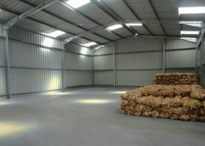 Example of Prefabricated Storage Building Interior