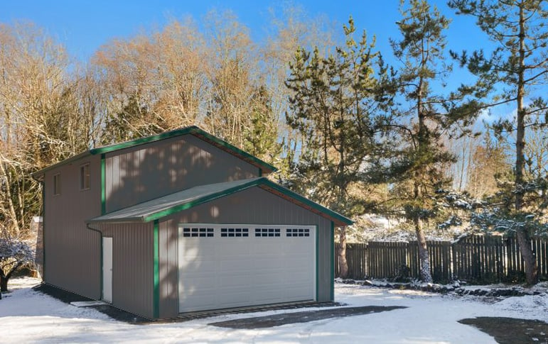 Garage With Loft Steel Buildings By, Prefab Garages With Living Quarters Washington State