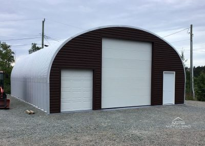 Steel storage shed for an outdoor use