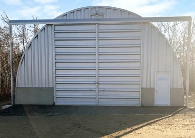 Example of one of our Quonset hut Q model garage packages for sale
