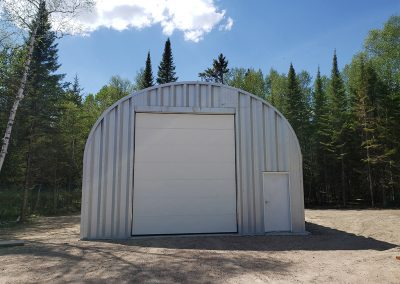 Example of one of our Quonset hut S model garage packages for sale