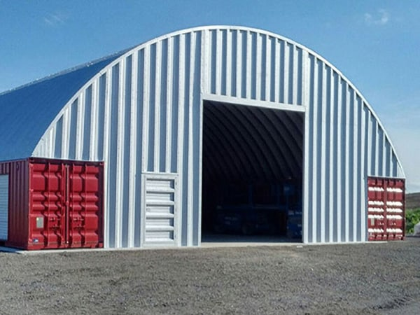 Shipping Containers With Steel Roof