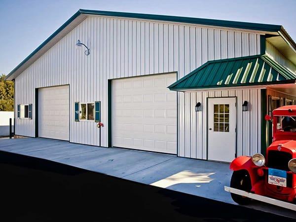 Steel Garage With Car besides